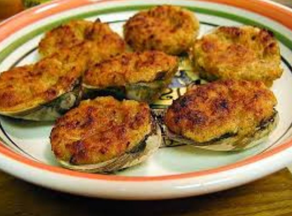 baked clams on plate